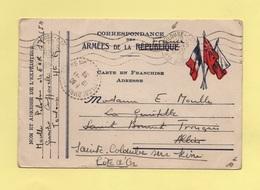 Carte FM Drapeaux - Mention Republique Barree Remplacee Par France - Toulouse - 12 Nov 1939 - Marcophilie (Lettres)
