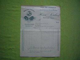 Facture Illustrée Vierge 1900 Distillerie D'absinthe Soulas à Ganges Hérault - France