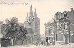 """AMAY """"Liège"""" - Place Des Cloîtres Et L'Eglise - LEGIA - Circulé - 2 Scans. - Andenne"""