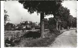 01. CPSM. Ain. Ambérieu-en-Bugey. Route De Battant. A Gauche, L'église - Autres Communes