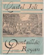 Dépliant PONTAILLAC ROYAN Restaurant CASTEL JOLI Chef De Cuisine G. MAUROY Hôtel Pension Plage Select - Dépliants Touristiques