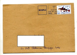 Fragment De Lettre Machine Reims Sur Poisson - Postmark Collection (Covers)