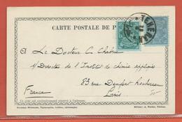 IRAN PERSE CARTE POSTALE AFFRANCHIE DE 1908 DE TEHERAN POUR PARIS FRANCE - Iran