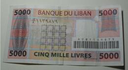 2012 - Liban - Lebanon - 5000 LIVRES - A081139879 - Libano