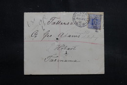 AUSTRALIE - Enveloppe De Brokenhill Pour La Tasmanie En Recommandé En 1901, Affranchissement Plaisant - L 55217 - Briefe U. Dokumente