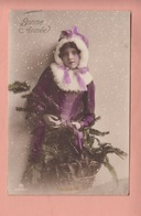 OLD PHOTO POSTCARD - CHILDREN - GIRL - FAMOUS MODEL  1914 - Portraits