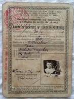 Carte De Réduction Familliale Du Chemin De Fer, 1921 - Ohne Zuordnung