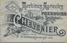 Loire, Saint Symphorien De Lay, Machines Agricoles, L. Chevenier, Livret (32 Pages) Tarif    (bon Etat) - Vieux Papiers