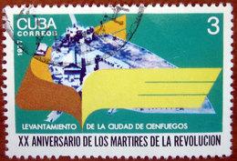 1977 CUBA Giornata Martiri Della Rivoluzione Cienfuegos Uprising - 3 Usato - Used Stamps