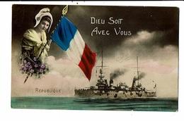 CPA-Carte Postale-FRANCE -Patriotisme  Dieu Soit Avec Vous 1919  VM13912 - Patriotic