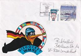 Germany 1993 Cover: Ice Hockey Sur Glace; Eishockey; IIHF World Championship München Dortmnud; VIGNETTE LABEL; - Eishockey