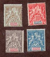 Soudan  N°16/19 N* TB  Cote 50 Euros !!! - Soudan (1894-1902)