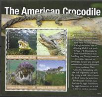 ANTIGUA AND BARBUDA , 2019, MNH,FAUNA,  REPTILES, CROCODILES, AMERICAN CROCODILE,  SHEETLET - Reptiles & Amphibians