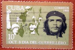 "1968 CUBA Giornata Del Guerrigliero Cheering Guerrillas Ernesto ""Che"" Guevara - 10 Usato - Cuba"