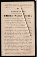 Priester, Prêtre, 1898, Emilien Vanden Dooren, Ronse, Renaix, Knesselare, Laarne, - Religion & Esotérisme