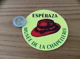 AUTOCOLLANT, Sticker «MUSÉE DE LA CHAPELLERIE - ESPÉRAZA (11) » (chapeau) - Aufkleber