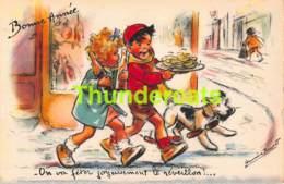 CPA ILLUSTRATEUR GERMAINE BOURET ARTIST SIGNED CHIEN DOG - Bouret, Germaine