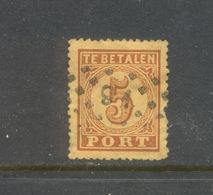 Puntstempel 91 Op Nvph P1 - Strafportzegels