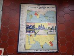 Carte Indochine Colonies Protectorats Territoires Sous Mandats Français Jeu électrique  Electro Tutor  Rare - Toy Memorabilia