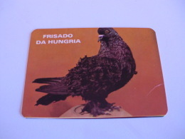 Birds Pigeon Pombo Frisado Da Hungria Portugal Portuguese Pocket Calendar 1986 - Klein Formaat: 1981-90