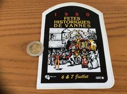 AUTOCOLLANT, Sticker «Fêtes Historiques 1990 - VANNES (56) » (médiéval) Radio France, Ouest France - Aufkleber
