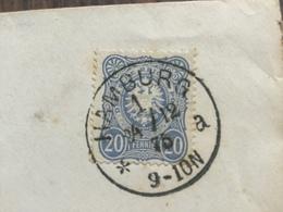 FL2810 Deutsches Reich 1875 Brief Von Hamburg Nach Stade - Cartas
