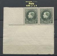 290 Paris. Jolie Paire Sans Charnière. Postfris. Cote 370-euros X 2 = 740,-€ - 1929-1941 Grand Montenez