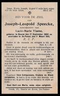 Beerst, De Panne, 1915, Joseph Speecke, Viaene - Images Religieuses
