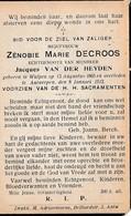 Wulpen, Antwerpen, 1912, Zenobie Decroos, Van Der Heyden, - Images Religieuses