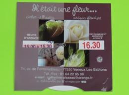 DISQUE De STATIONNEMENT Publicitaire FLEURISTE à VENEUX Les SABLONS 77 - Années 2000 - Reclame
