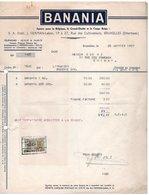 BANANIA - J.HERMAN - LABOR - ETTERBEEK - CHIMAY - 25 JANVIER 1957. - Levensmiddelen