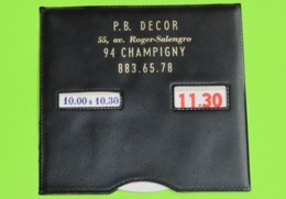 DISQUE De STATIONNEMENT Publicitaire Magasin P.B. DECOR à CHAMPIGNY 91 - Années 1970 - Publicités