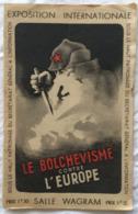 Programme De L'exposition Internationale: Le Bolchevisme Contre L'europe. 1942(?) - Weltkrieg 1939-45