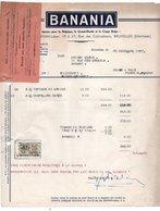 BANANIA + AVIS -  J.HERMAN-LABOR - ETTERBEEK - CHIMAY - 23 DECEMBRE 1957. - Levensmiddelen
