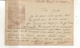 Carte Postale Militaire (illustrée, Franchise, 2 Scans) - Marcophilie (Lettres)