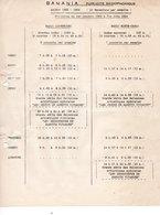 BANANIA - Publicite Radiophonique - Saison 1953 - 1954 - Radio Luxembourg - Radio Monte-Carlo - - Alimentaire