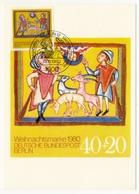 ALLEMAGNE BERLIN - Carte Maximum - Weihnachtsmarke 1980 - [5] Berlijn