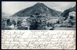 Alte Postkarte,Schweiz,Bern,Wilderswyl,Bahnpost 1911 Interlaken - Grindelwald,Blauer Kastenstempel WILDERSWIL, - BE Berne