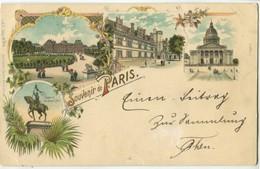 75 Paris Précurseur KUNZLI Souvenir De ... Luxembourg Panthéon N°2 - Otros