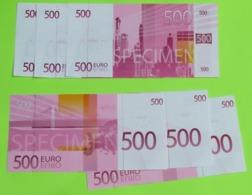 Lot De 6 Spécimen PUBLICITAIRE AFIBEL -  Vente à Distance - 500 Euro - Récent. - Specimen