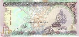 MALDIVES 5 RUFIYAA 2000 PICK 18b UNC - Maldives