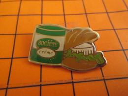 116B Pin's Pins / Beau Et Rare / THEME : ALIMENTATION / FROMAGE SOCIETE CREME ROQUEFORT SANDWICH - Alimentación