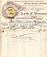 CG - Fatt. Fabbrica Arredi Per Chiesa F.lli Vismara Del 27/1/1911  Per La Fabbriceria Parr.le Di Stazzona - Italia