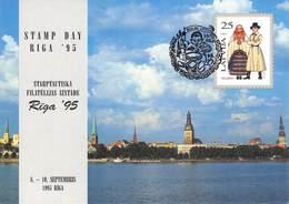 LETTLAND - 3 POSTKARTEN TAG DER BRIEFMARKE 1995 /ak493 - Lettland
