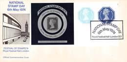 GROSSBRITANNIEN - BRIEFE, KARTE, BLOCK NATIONAL STAMP DAY 1974, 1987 /ak494 - 1952-.... (Elizabeth II)