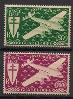 Guadeloupe - 1945 - Poste Aérienne PA N°Yv. 4 Et 5 - Série De Londres - Neuf Luxe ** / MNH / Postfrisch - Guadeloupe (1884-1947)