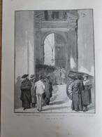 2 Gravure  1888  Rome Le Jubilé Pontifical Vatican Pape Porte De Bronze Basilique Saint Pierre - Oude Documenten