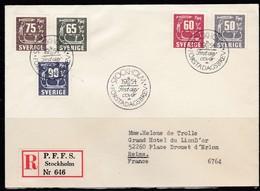 S298 – SUEDE – SWEDEN – 1954 – ROCK CARVINGS – MI # 396/400 – 6 € - FDC