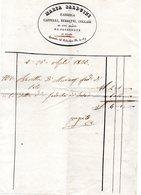 CG - Fattura Ditta Maria Balduini  - Fabbrica Cappelli, Berretti, Collari Ed Oggetti Per Sacerdoti - Milano 26/4/1836 - Italia