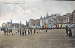 Ostende - Kursaal Et Plage (animée Colorisée Cheval, Edit V G 1910) - Oostende